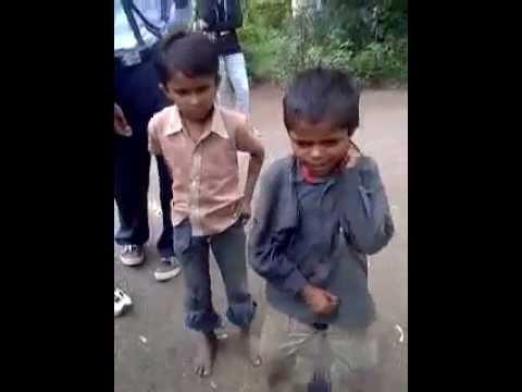 Street children singing comedy shayari
