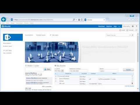 Virtual Office - Water Cooler Feature Demo