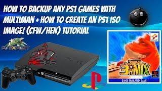 Wie sichern Sie Jedes PS1 Spiel Mit multiMan + Wie erstellt man Eine PS1 ISO-Image! (CFW/HEN) - TUTORIAL