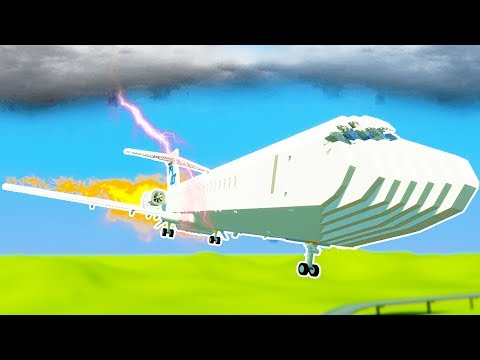 LEGO JUMBO JET STRUCK BY LIGHTNING IN MID FLIGHT! - Brick Rigs Workshop Creations Gameplay