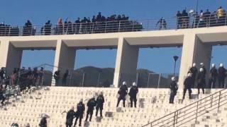PAOK Hooligans VS  AEK Hooligans (fight)