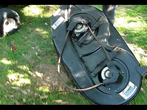 How to replace the deck belt on an MTD riding mower - YouTube