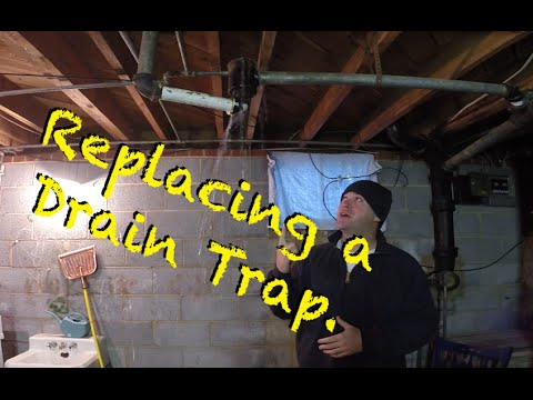 How To Replace An Old Drum Trap To A Modern Waste Water Trap Youtube