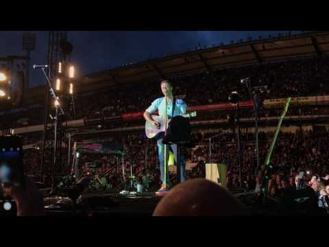 Coldplay - Through the rain Improvised in Gothenburg 2017
