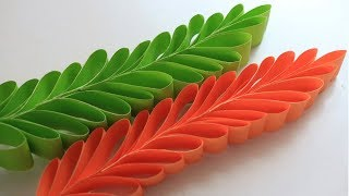 How To Make Paper Leaves | Decorative Leaves Making | Easy DIY Leaves Making Instructions |