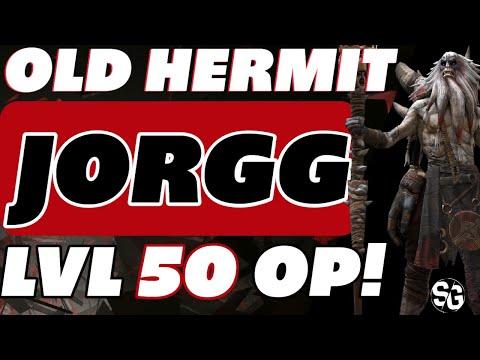 Old Hermit Jorgg level 50 endgame guide Raid Shadow Legends Regen set is king!!
