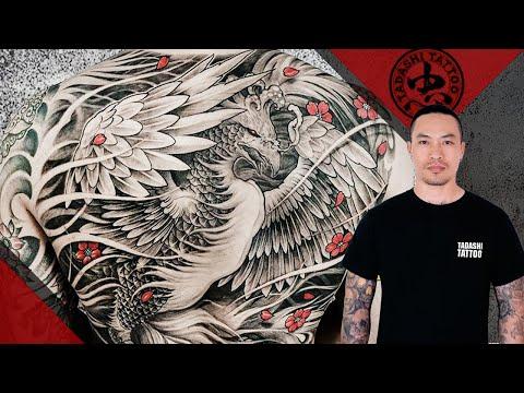 Phoenix tattoo full back