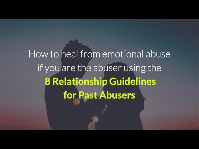 Can emotional abusers change?