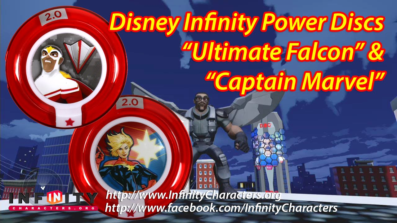 Ultimate Falcon Miss Marvel Disney Infinity Power Discs Youtube