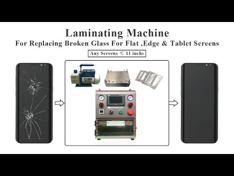 Q5 A Laminating Machine Used For Replacing Broken Glass For Flat ,Edge and Tablets Screens