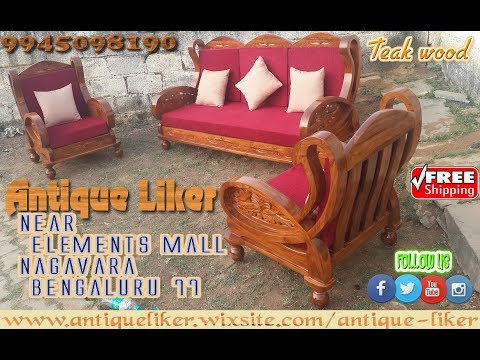 Teak Wood Signature Model Sofa Antique Liker Youtube