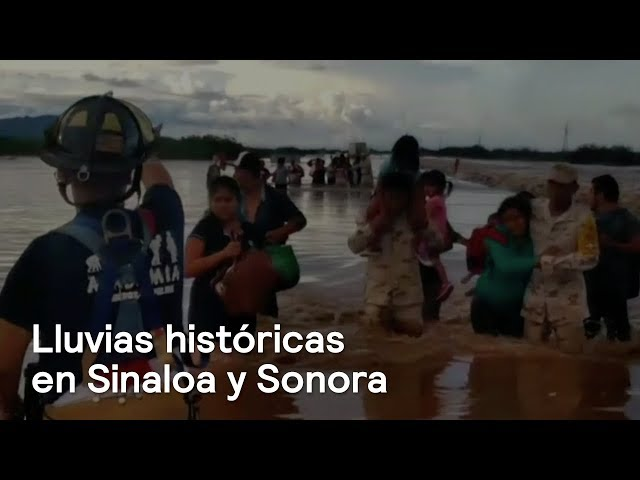 Lluvias rompen récords en Sinaloa y Sonora - En Punto con Denise Maerker