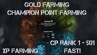Repeat youtube video *CrAzY* Champion Point *Gold* Xp *Lich Set* and much more FaRmInG in Elder Scrolls Online