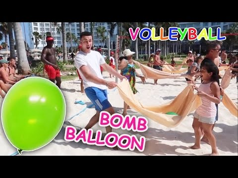 Thumbnail: KIDS REACT! Crazy Beach Volleyball Water Bomb Balloon Challenge