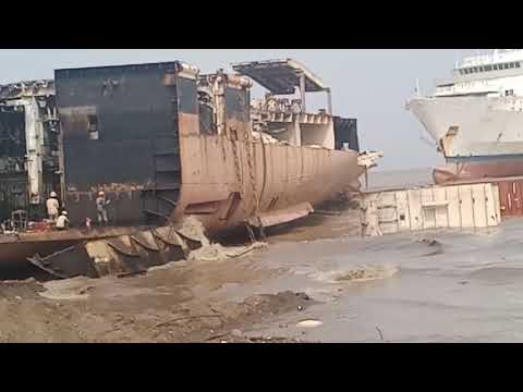 Alang 🚢 ship breaking yard bhavnagar Gujarat video