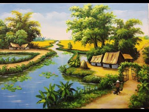 hướng dẫn vẽ tranh, tranh tường, 3d   acrylic /sơn dầu (thuyết minh)lh đật hàng:0985099515