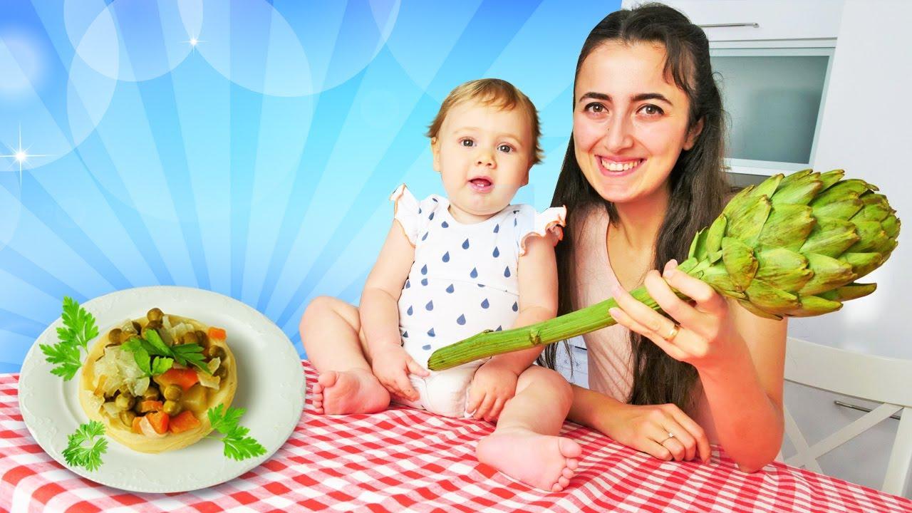 Anne Vlog. Bebekler için yemek tarifleri. Sevcan Derin'e enginar pişiriyor!