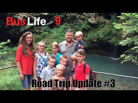 Water Falls in Arkansas | Traveling Across North America | BUS LIFE