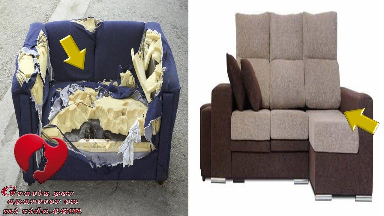 Mira una tecnica super sencilla y economica para tapizar - Tapizar sofas en casa ...