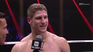 Felipe Micheletti debuts with TKO win over Zinedine Hameur-Lain at GLORY 60 LYON
