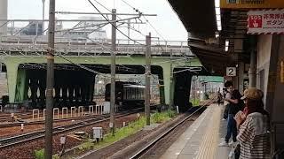 名鉄2200系2212F+9100系9105F一部特別車特急豊橋行金山4番線到着