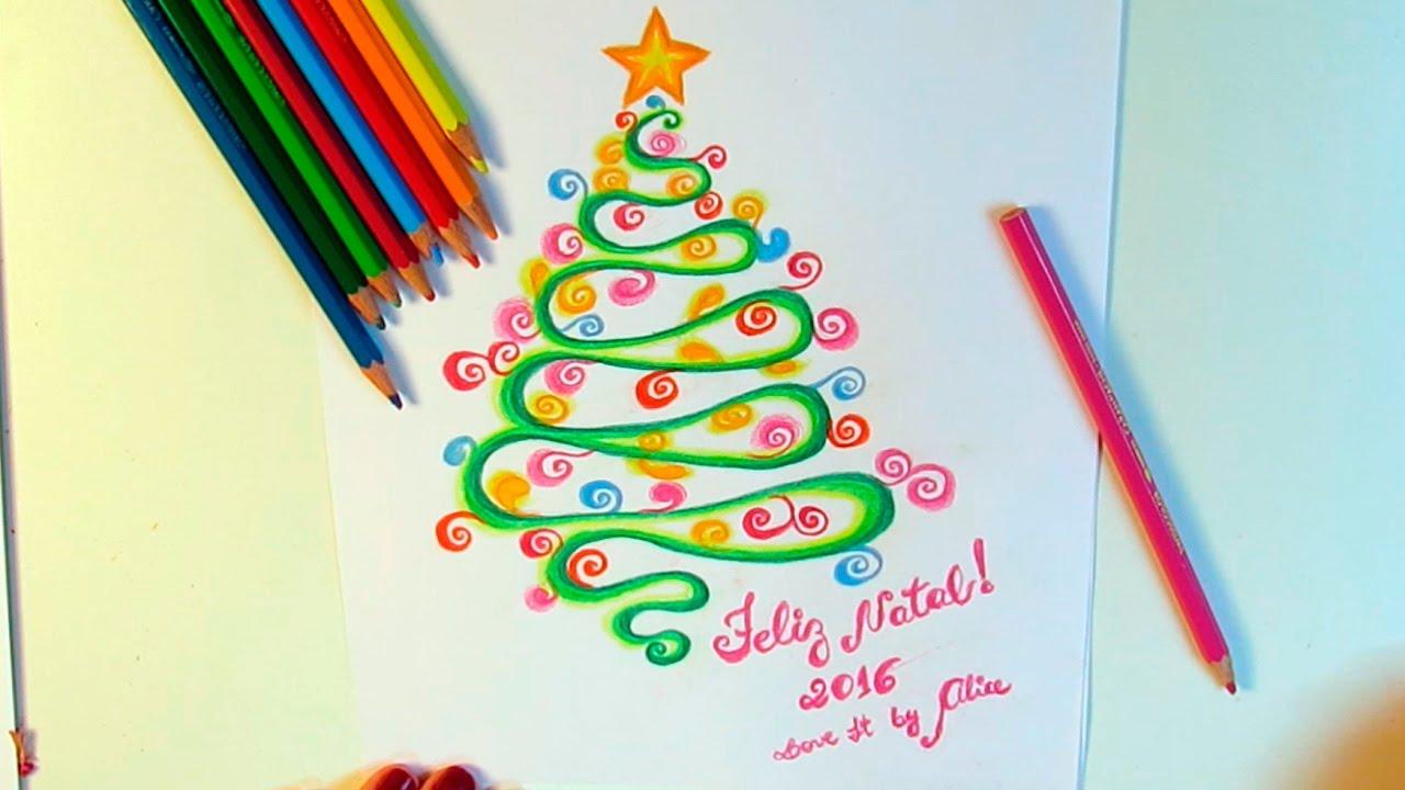 Diy Desenho De Arvore De Natal Bolas De Natal E Presepio Youtube