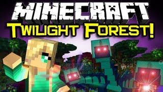 Minecraft TWILIGHT FOREST MOD Spotlight! - An Overview Into A Wonderland (Minecraft Mod Showcase)