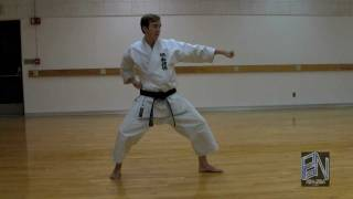 Shotokan Karate Heian Nidan Kata demonstration on PaulGaleNetwork.com
