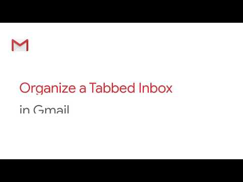 How To: Organize a tabbed inbox in Gmail