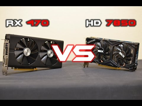 SAPPHIRE NITRO+ RX 470 8GB Vs HD 7850 OC 2GB (benchmarks + GTA V, 1080p) [EN]