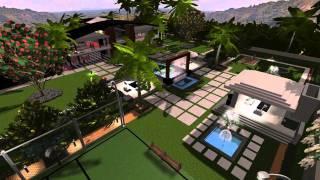 3d Landscape And Pool Design - Virtual Presentation Studio Presents Modern Estate Outback Au