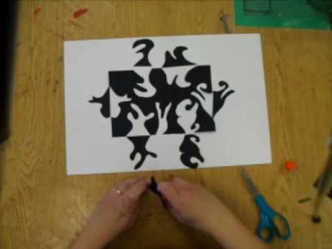 Papercraft 4th - 6th Grade Notan paper cut: Positive and Negative Space Design