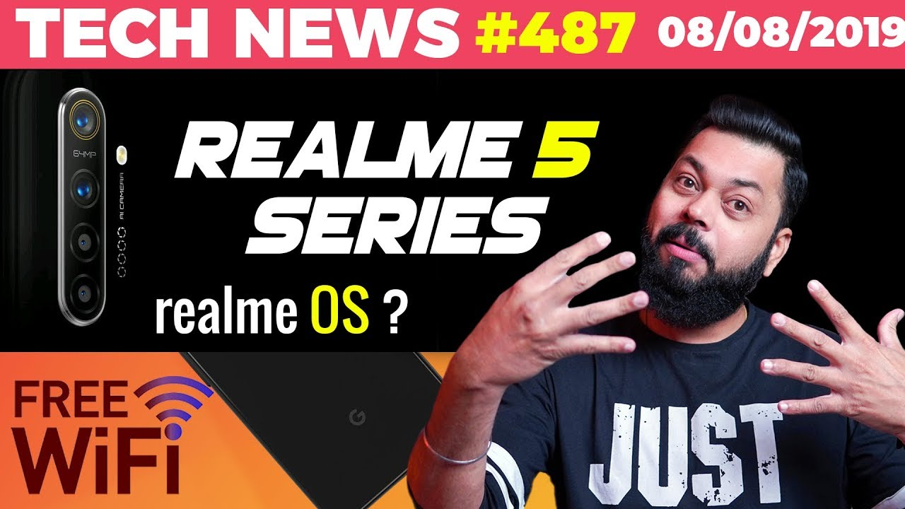 Realme 5 Series on Realme OS?, Free Internet Delhi, Realme 64MP Launch,Pixel 4 90Hz Display-TTN#487