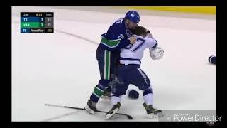 Canucks vs Lightning all fights/scrums