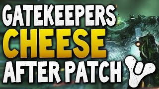 Destiny - GATEKEEPER CHEESE AFTER HARD MODE HOTFIX (Despawn Enemies Glitch)