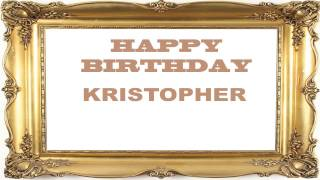 kristopher   Birthday Postcards & Postales - Happy Birthday