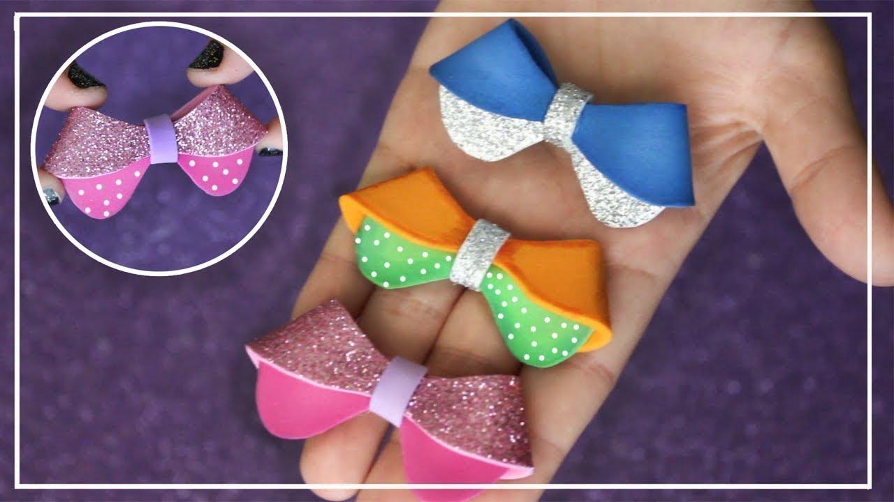 Como hacer mo o de goma eva diy foam bow como fazer - Lamparas con goma eva ...