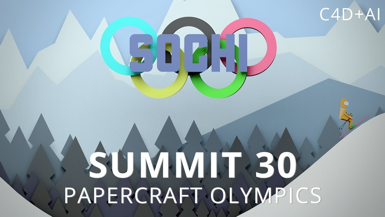Papercraft Summit 30 - Papercraft Olympics - Cinema 4D