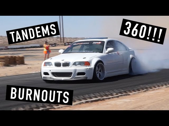 E46 Burnouts, Tandems, and 360 Drift! x Andys Tires Slay Day