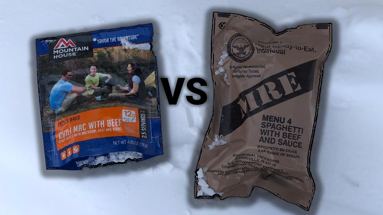 Best Survival Food- MRE vs Mountain House- What Should You Buy?