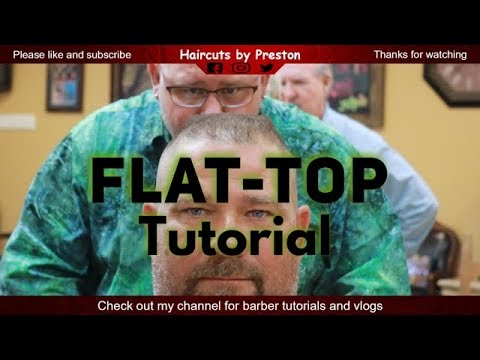 How to cut a standard flat top on straight hair step by step barber tutorial