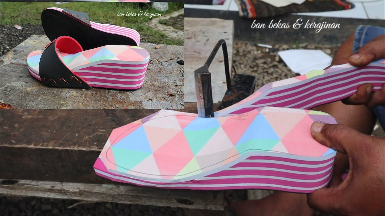 A simple way to make screen printing sandals