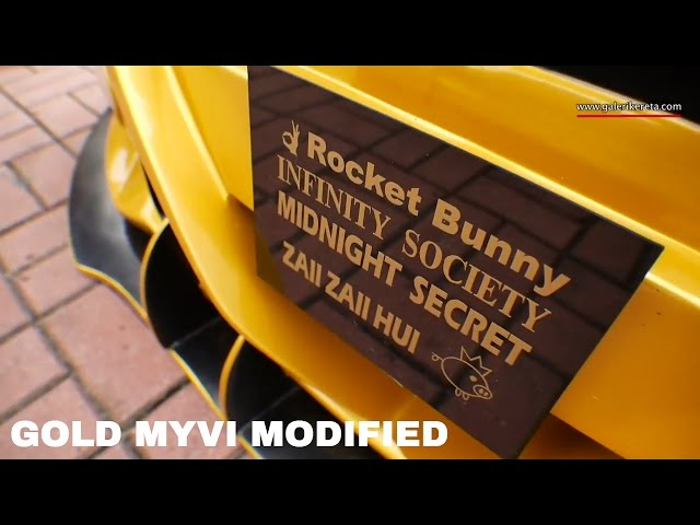 Perodua Myvi with Custom Bodykit Rocket Bunny | Auto show Zero Carbon 2016 Econsave Seremban