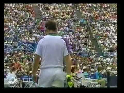 Jim Courier vs McEnroe - US Open 1992 - 06/13