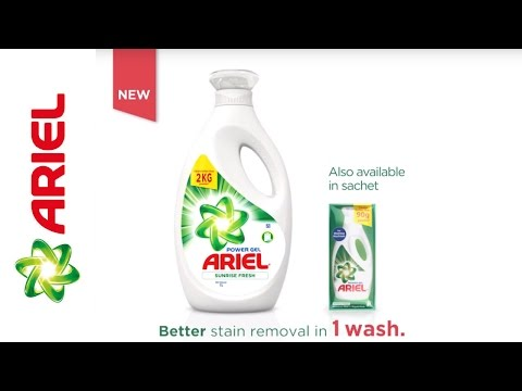 Introducing Ariel Power Gel for Tough Stain Removal - Ariel