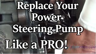 Power Steering Pump Replacement Chevrolet Tahoe, Suburban, Silverado