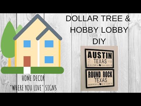 DOLLAR TREE DIY  |  HOME DECOR  |  HOBBY LOBBY DIY