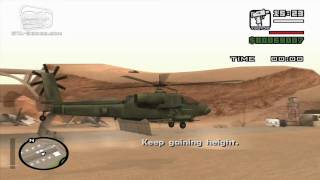 GTA San Andreas - Walkthrough - Pilot School #5 - Helicopter Takeoff (HD)