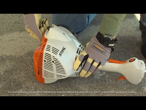 STIHL FS 40 C-E Trimmer - How to Start