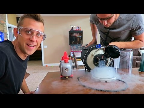 Thumbnail: Freezing Liquid Nitrogen into ICE